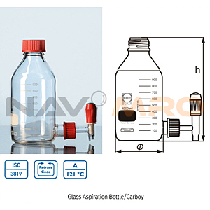 글라스 증류수통 (Glass Aspiration Bottles)