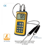 방수 휴대용 2채널 디지털 온도계 (Waterproof Digital 2-Channel Thermocouple Thermometer) ATM