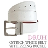 박성현 골프벨트 (Ostrich white belt with prong buckle) 드루